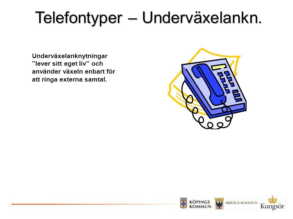 Telefontyper – Underväxelankn.