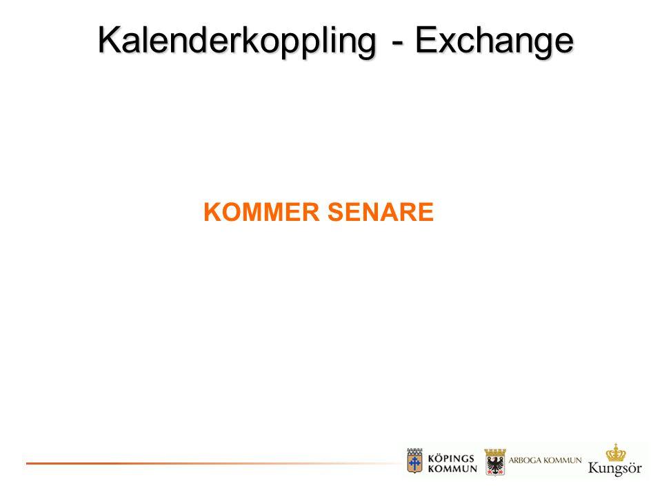 Kalenderkoppling - Exchange