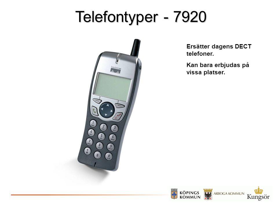 Telefontyper - 7920 Ersätter dagens DECT telefoner.