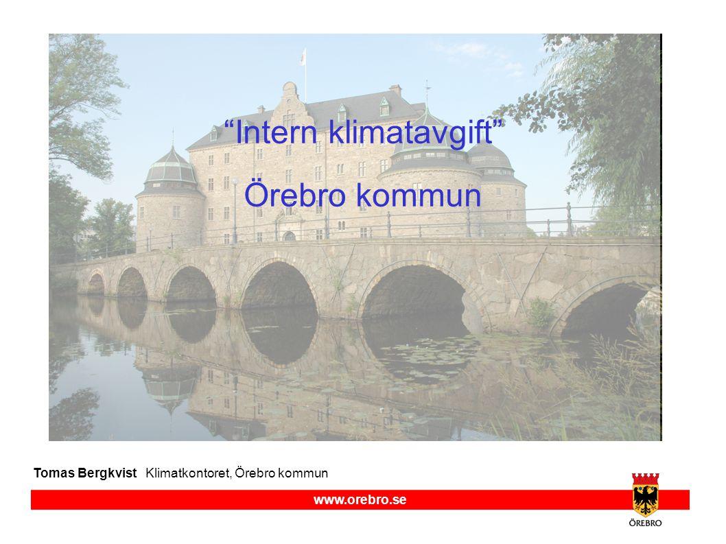 Intern klimatavgift Örebro kommun