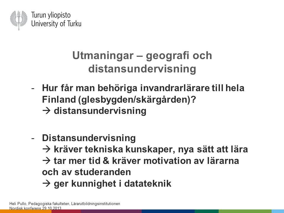 Utmaningar – geografi och distansundervisning