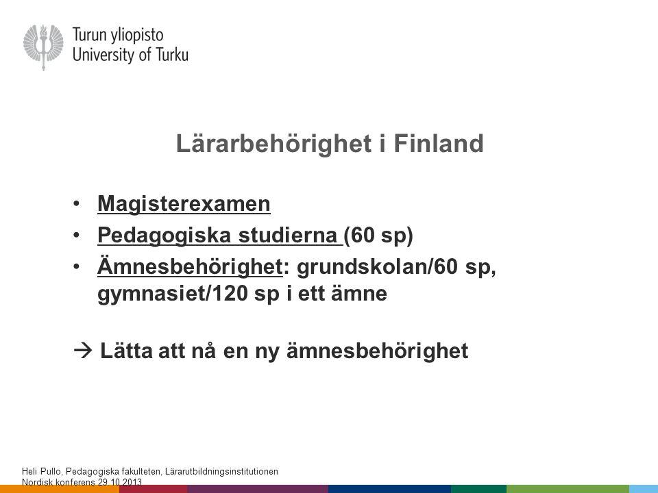 Lärarbehörighet i Finland