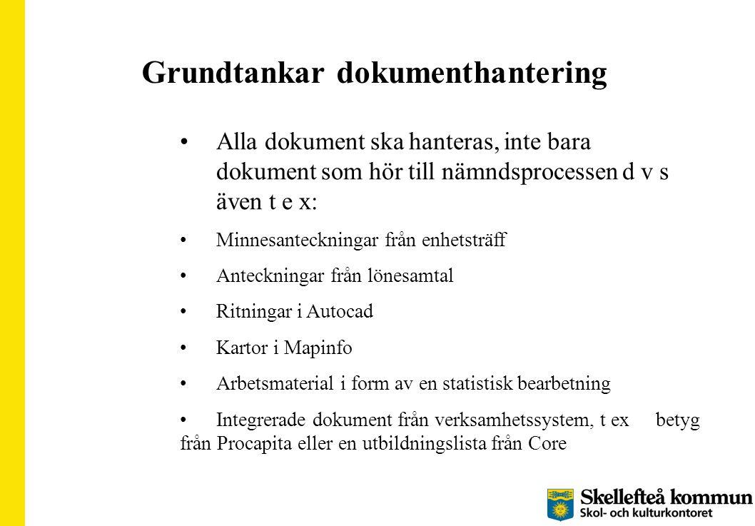 Grundtankar dokumenthantering