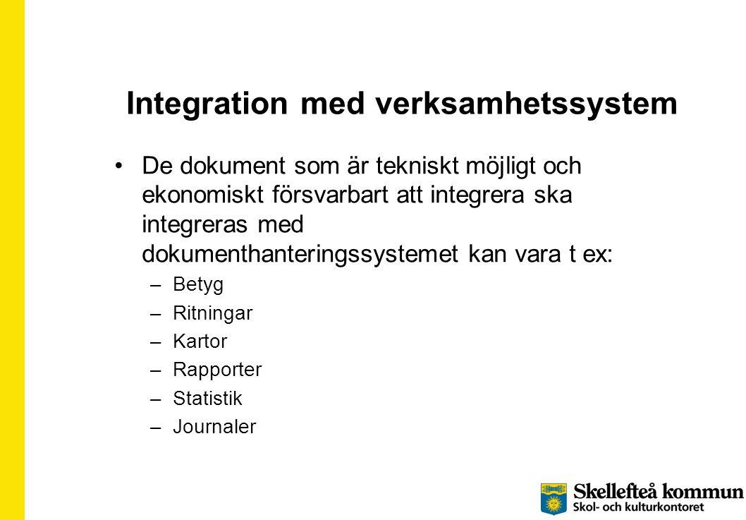 Integration med verksamhetssystem