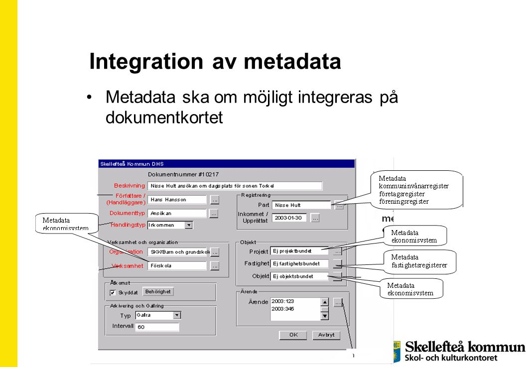 Integration av metadata