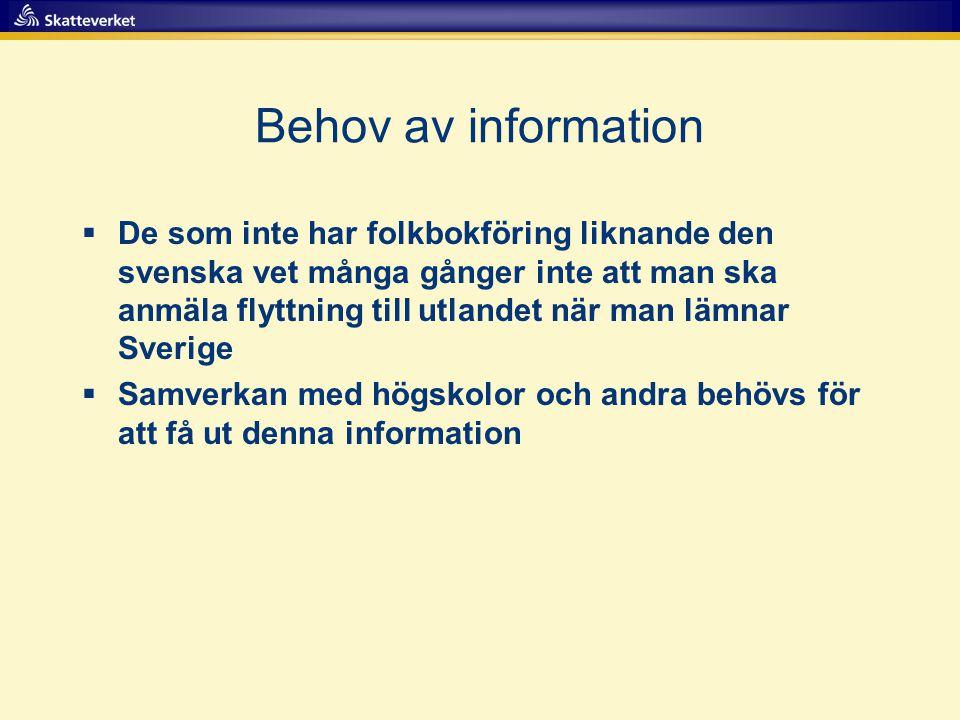 Behov av information