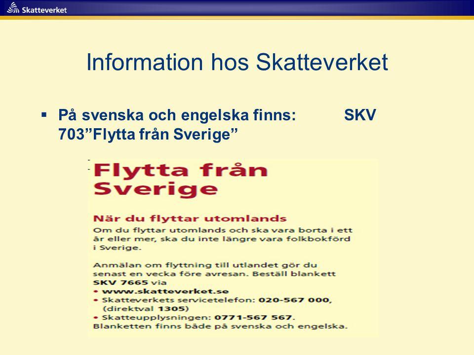 Information hos Skatteverket