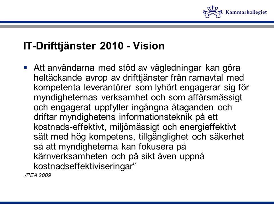 IT-Drifttjänster 2010 - Vision