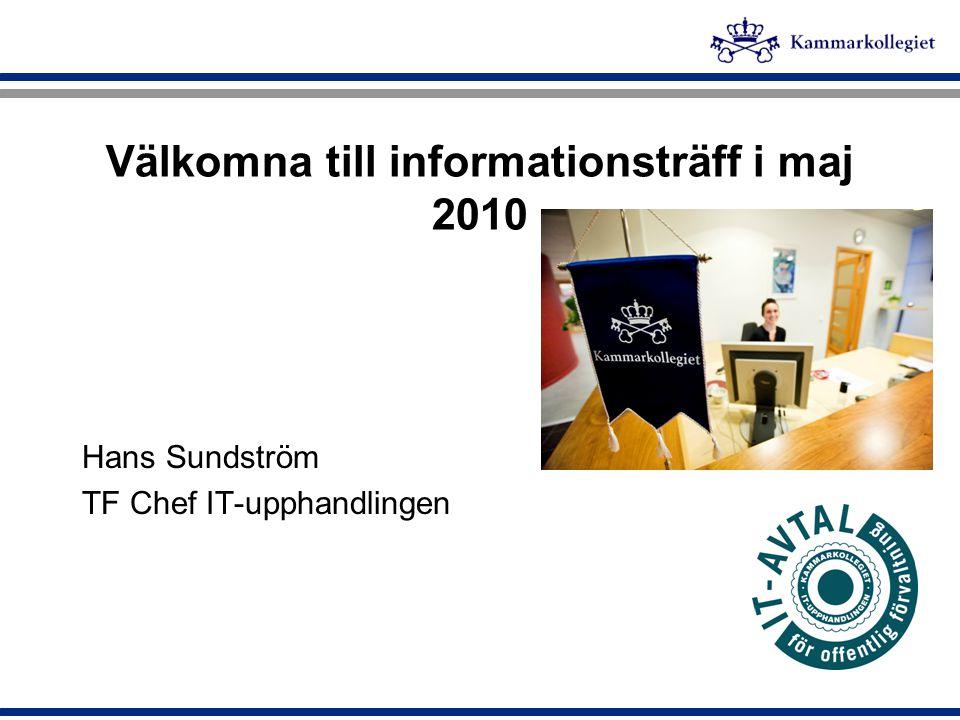 Välkomna till informationsträff i maj 2010