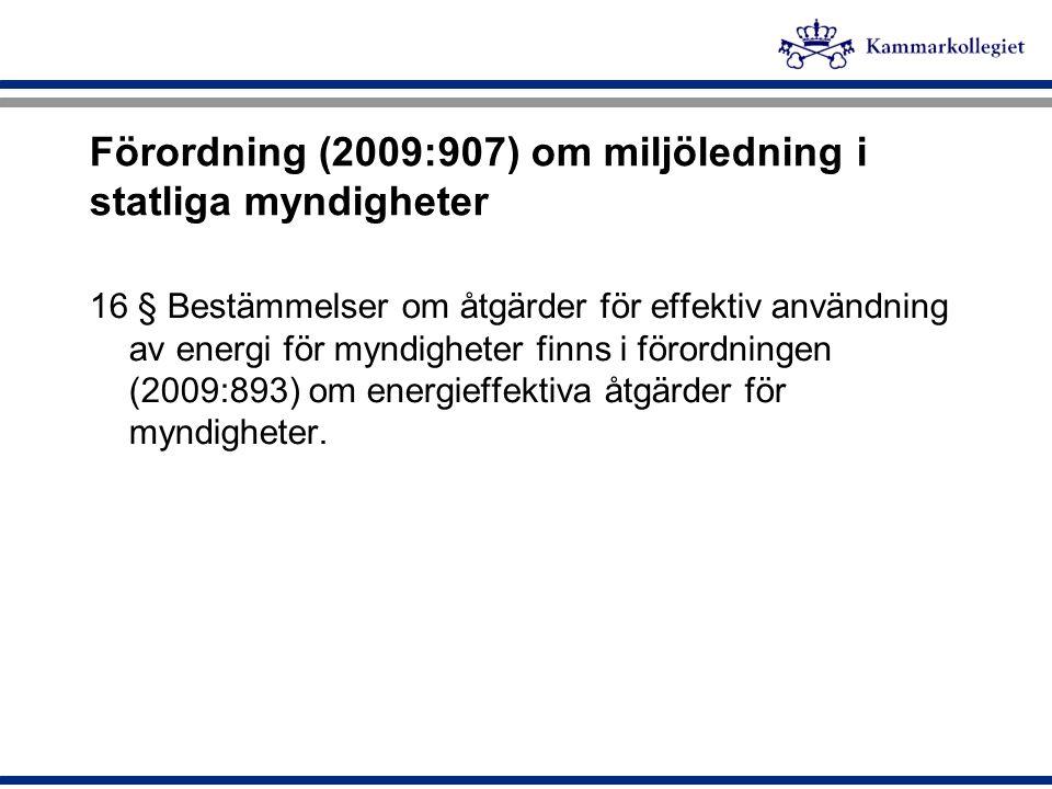 Förordning (2009:907) om miljöledning i statliga myndigheter