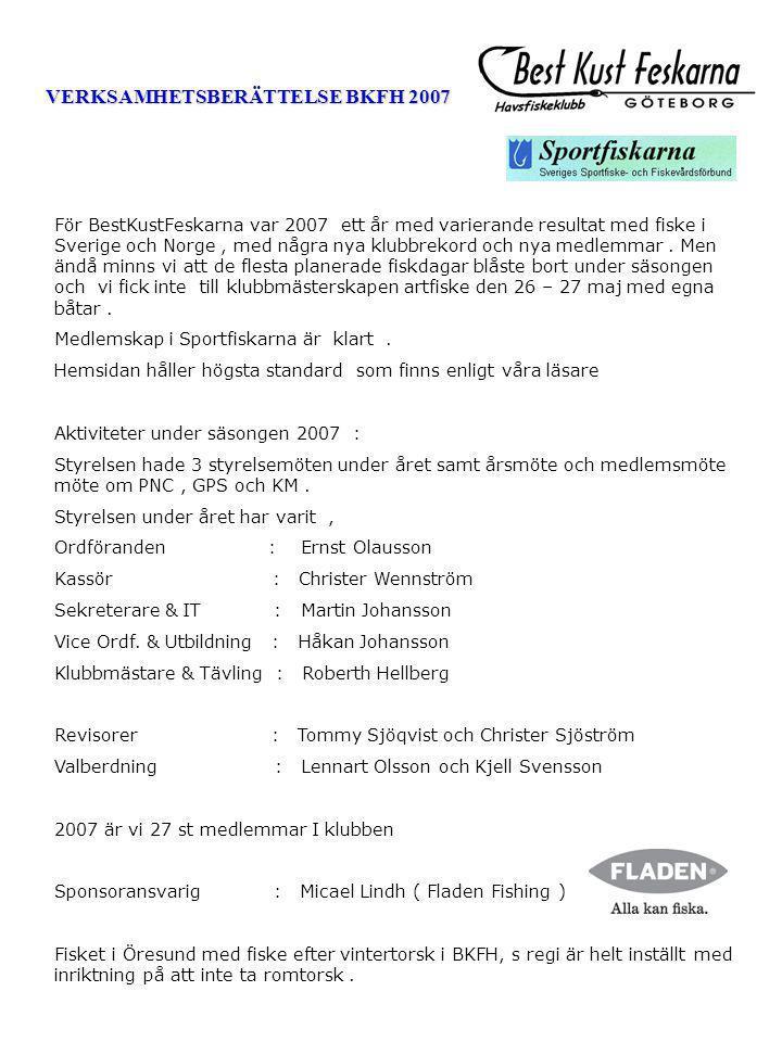 VERKSAMHETSBERÄTTELSE BKFH 2007