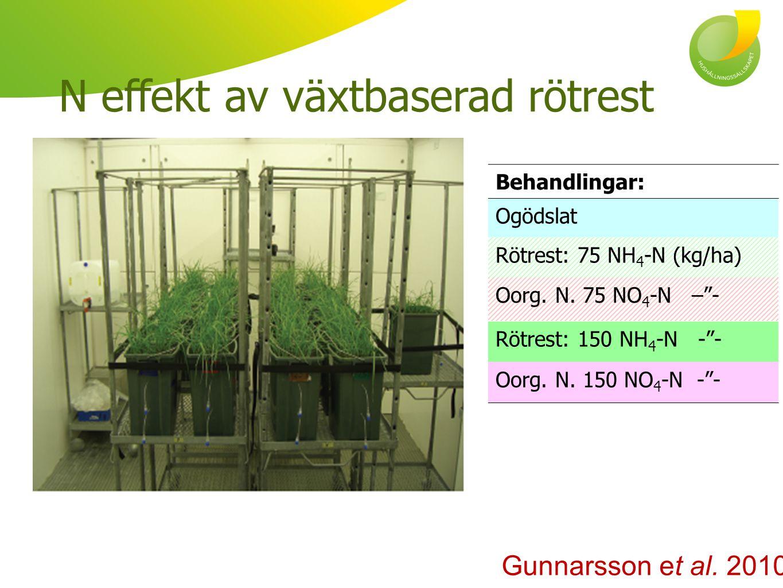 N effekt av växtbaserad rötrest