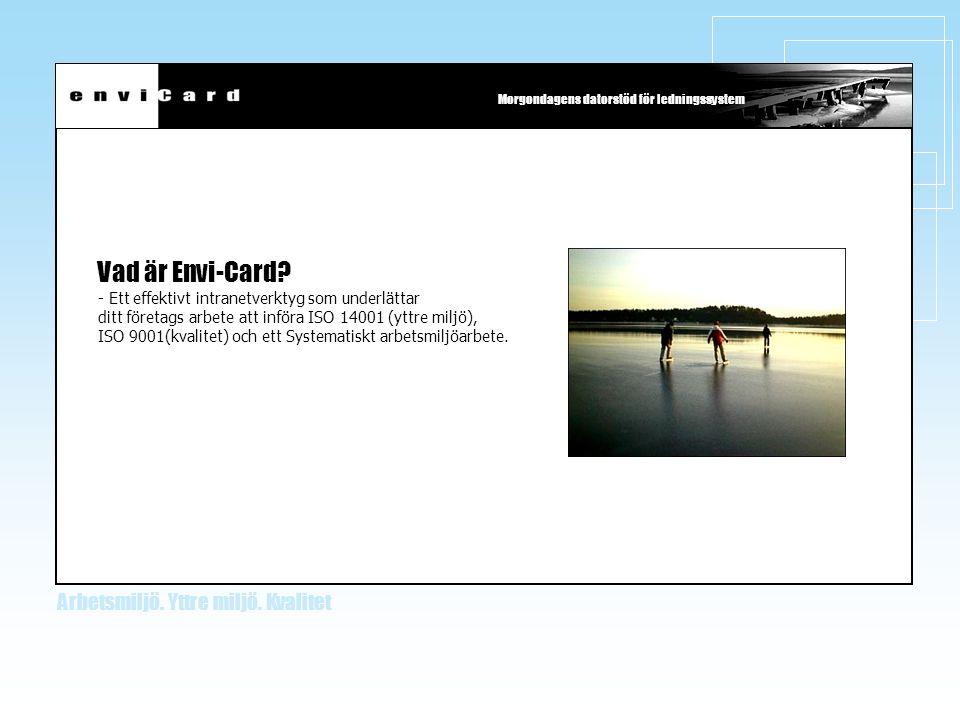 Vad är Envi-Card - Ett effektivt intranetverktyg som underlättar