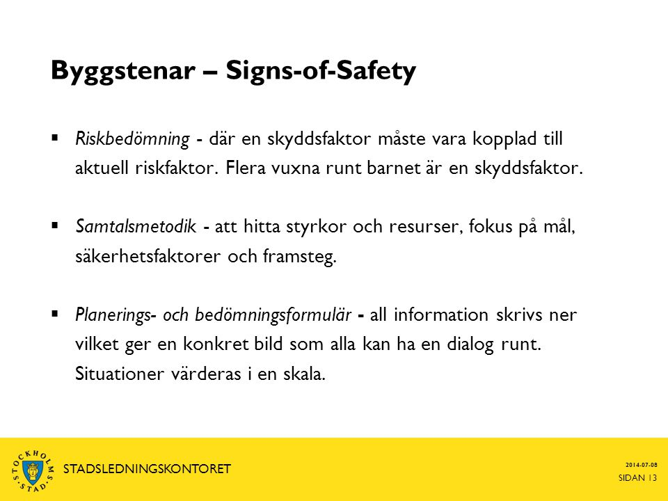 Byggstenar – Signs-of-Safety