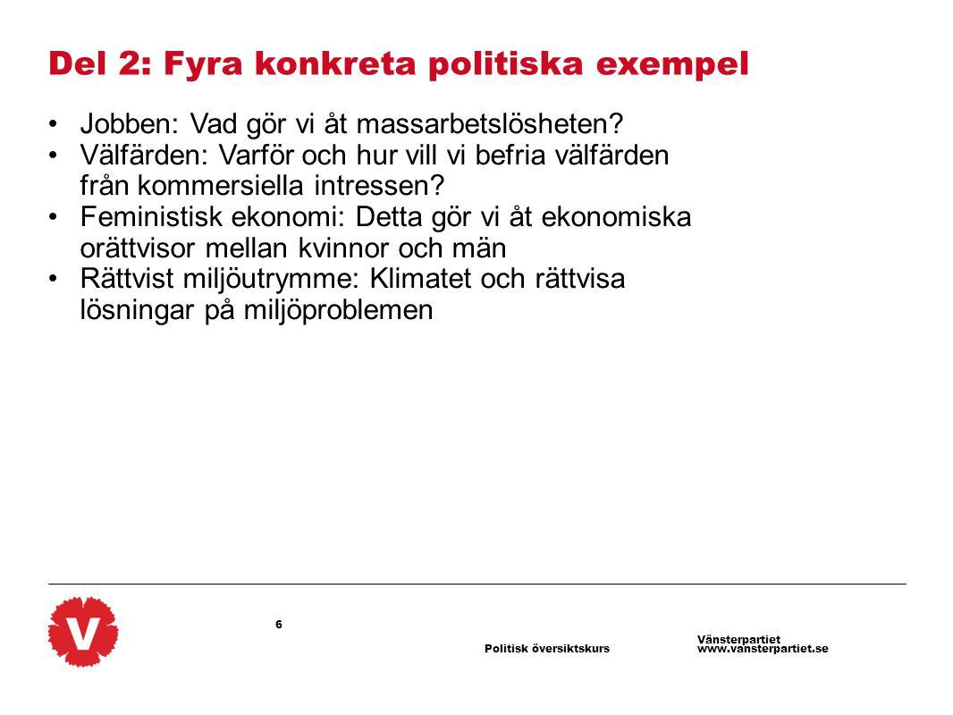 Del 2: Fyra konkreta politiska exempel