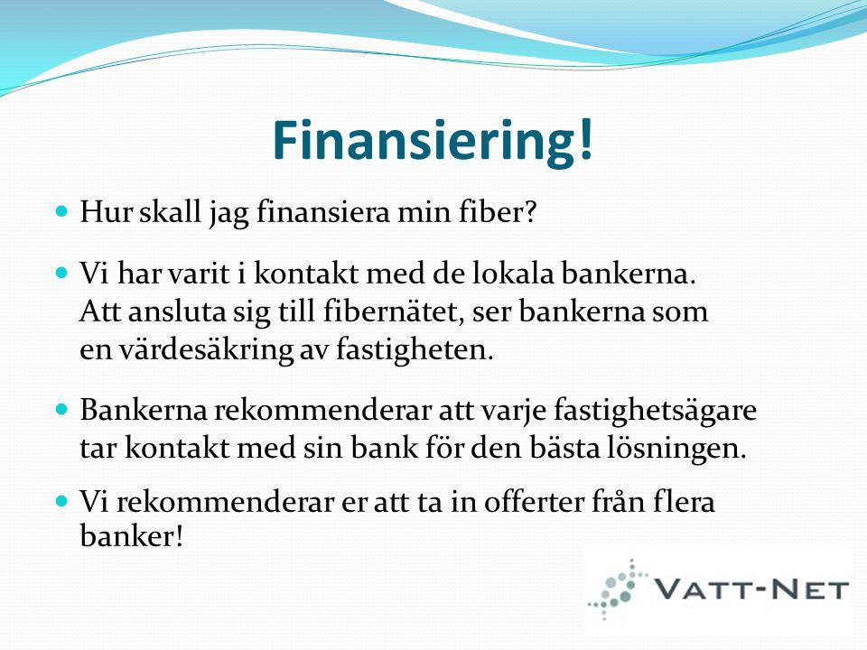 Finansiering! Hur skall jag finansiera min fiber