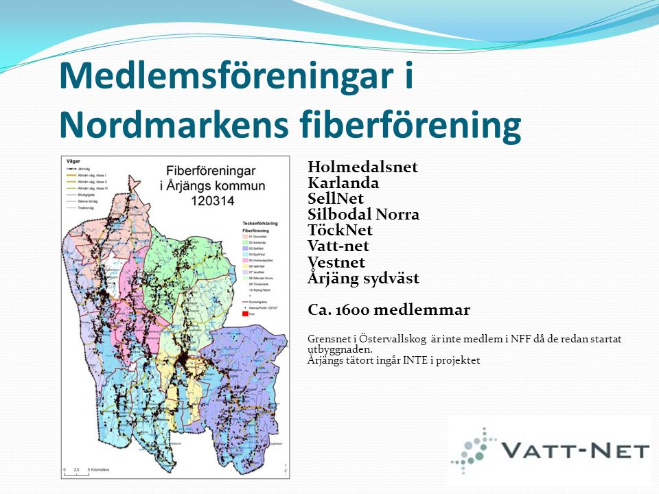 Medlemsföreningar i Nordmarkens fiberförening