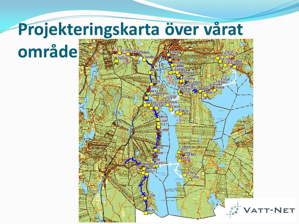 Projekteringskarta över vårat område