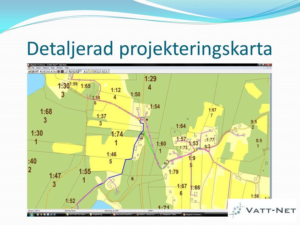 Detaljerad projekteringskarta