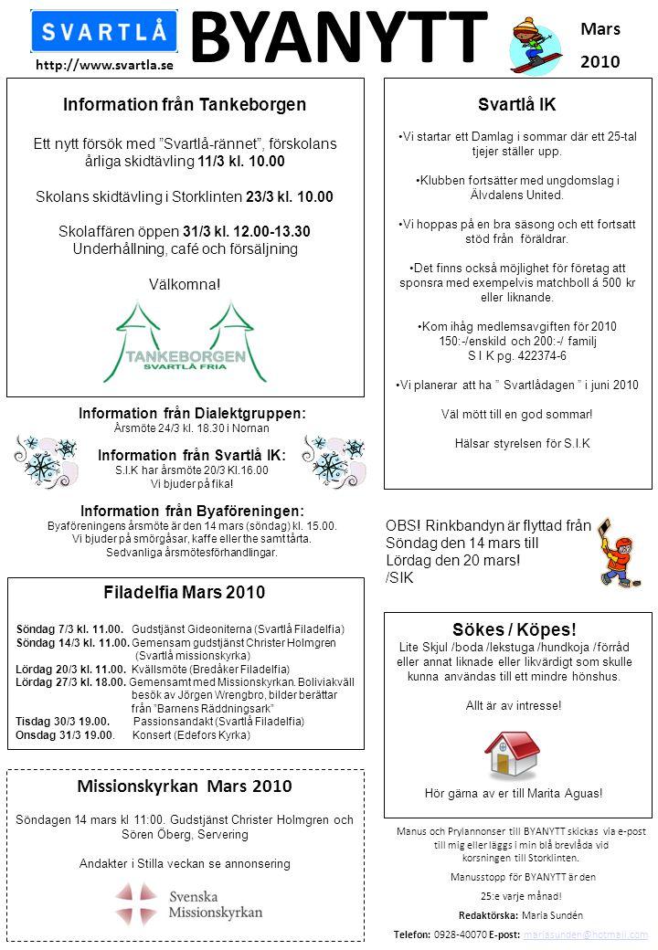 Information från Tankeborgen