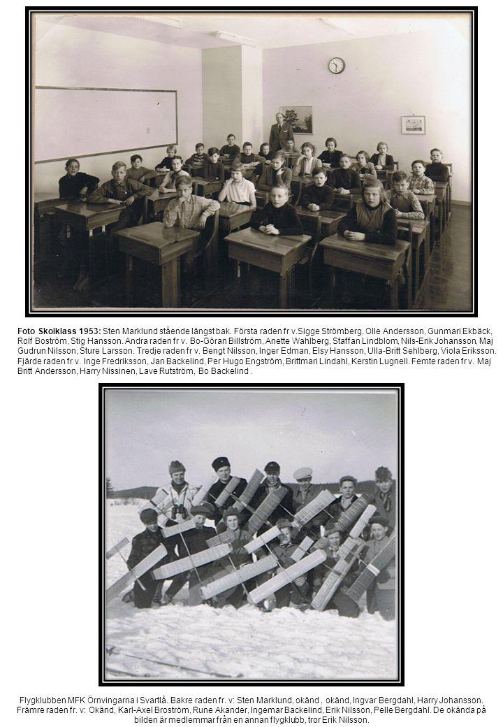 Foto Skolklass 1953: Sten Marklund stående längst bak