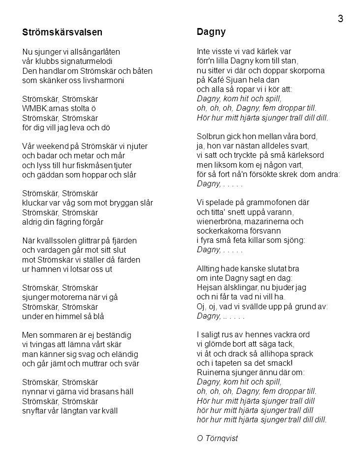3 Strömskärsvalsen Dagny Nu sjunger vi allsångarlåten