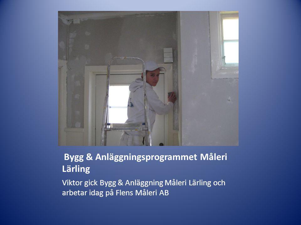 Bygg & Anläggningsprogrammet Måleri Lärling