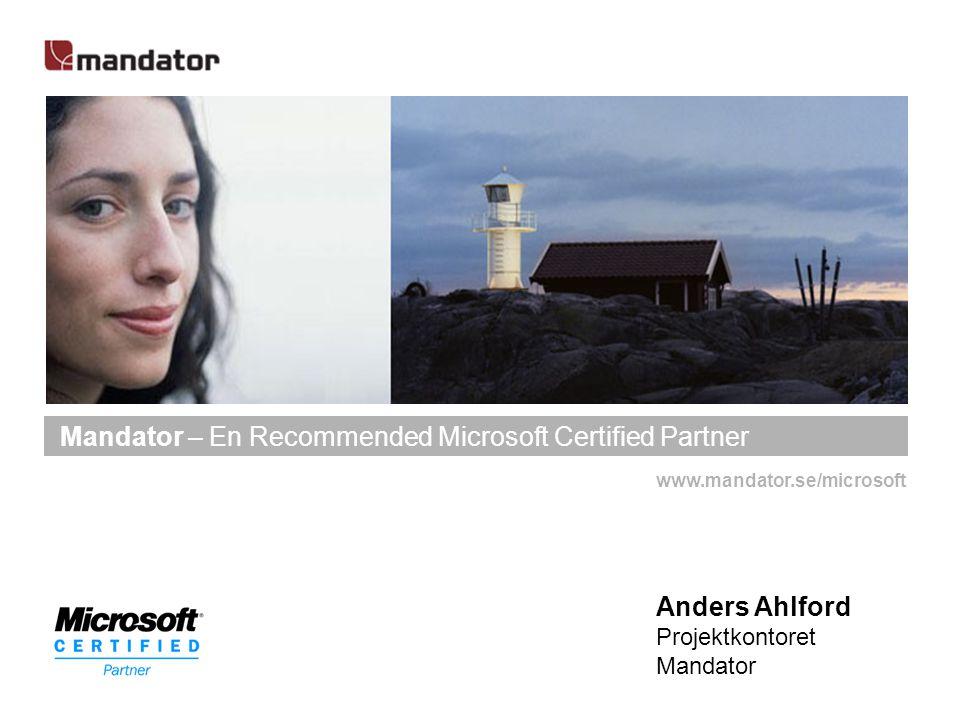 Mandator – En Recommended Microsoft Certified Partner