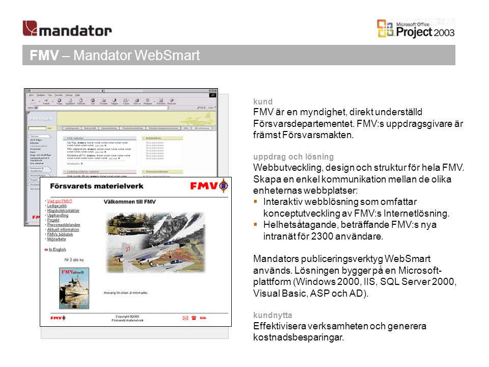FMV – Mandator WebSmart