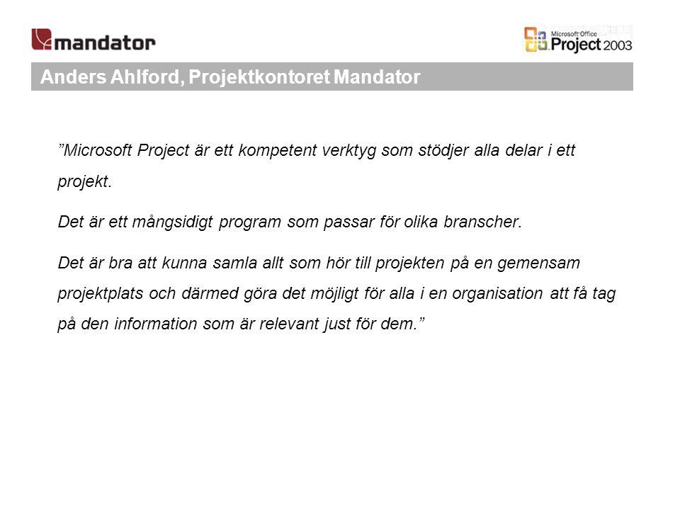 Anders Ahlford, Projektkontoret Mandator