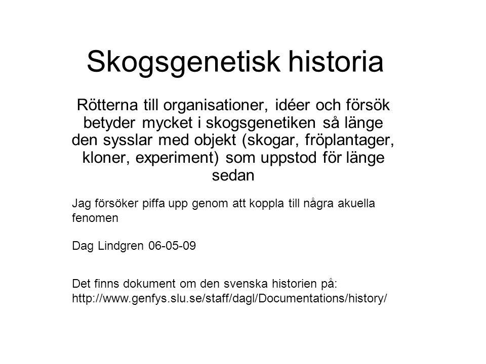 Skogsgenetisk historia