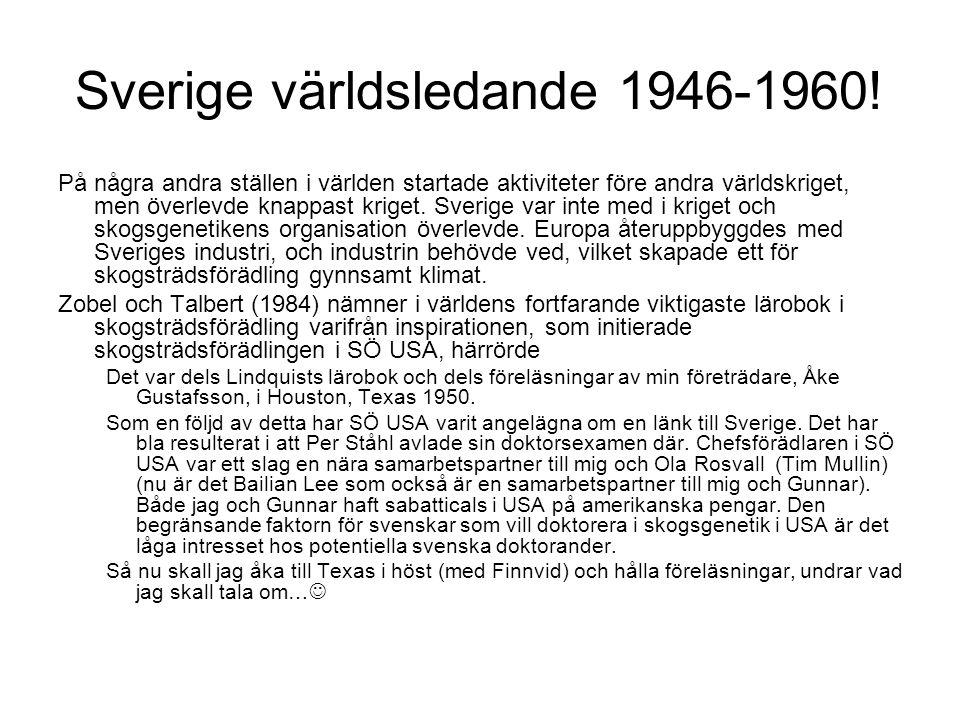 Sverige världsledande 1946-1960!