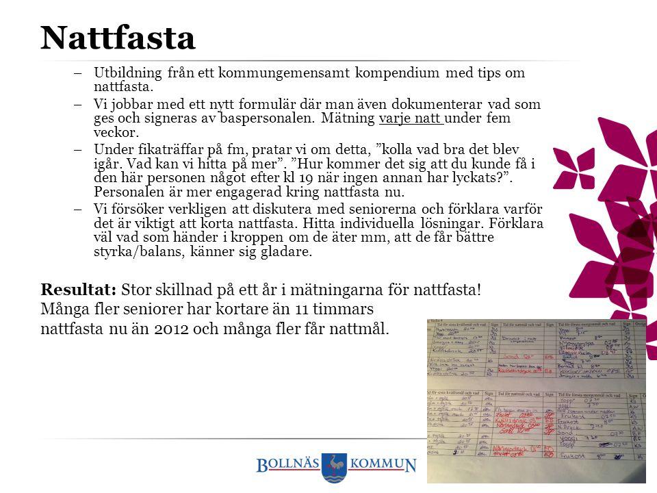Nattfasta Utbildning från ett kommungemensamt kompendium med tips om nattfasta.