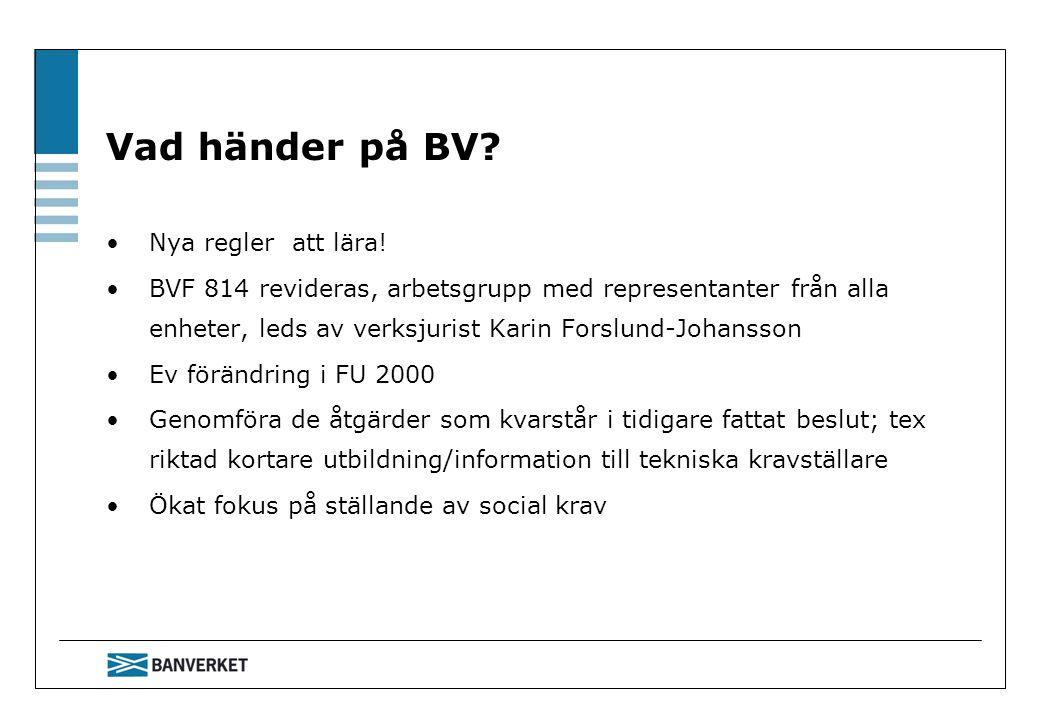 Vad händer på BV Nya regler att lära!
