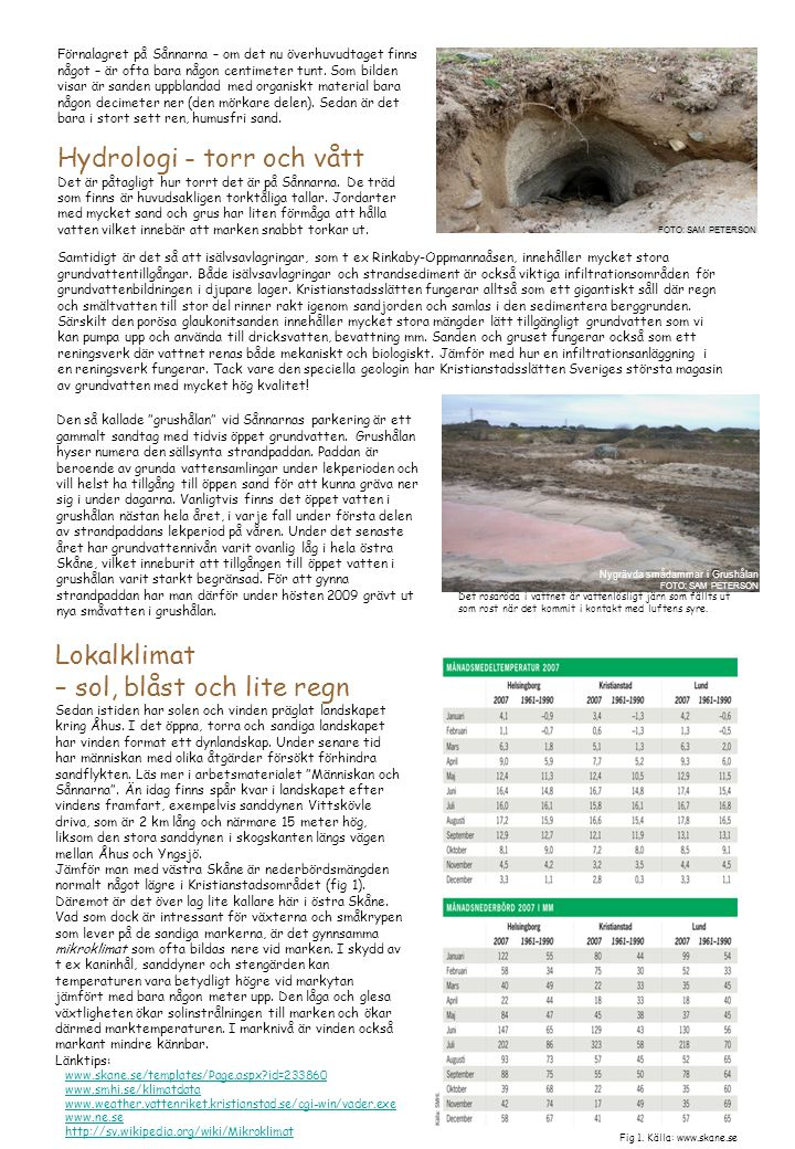 Hydrologi - torr och vått