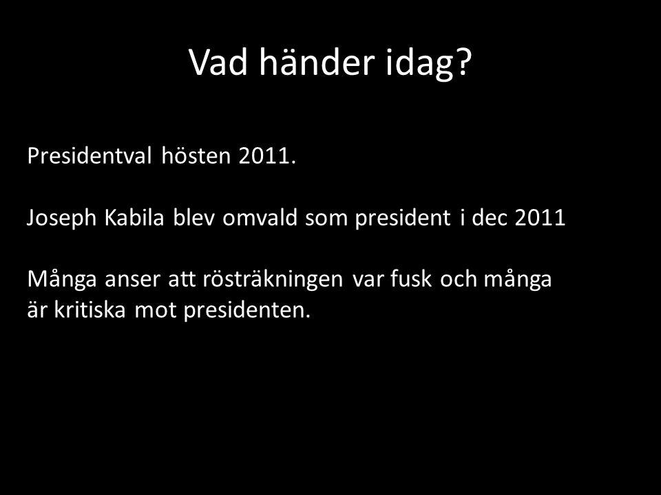 Vad händer idag Presidentval hösten 2011.