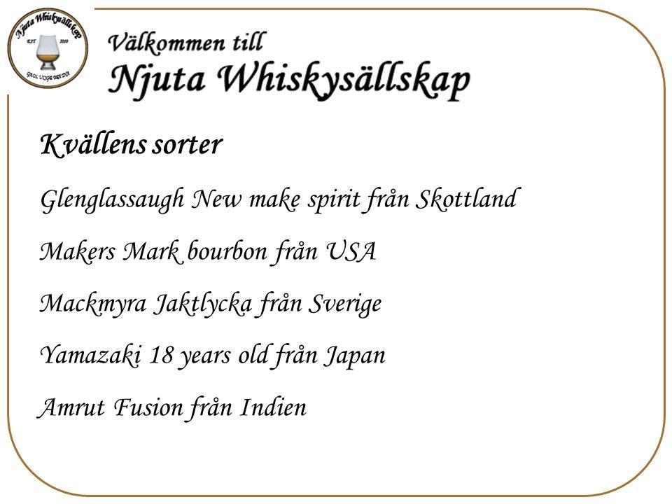 Kvällens sorter Glenglassaugh New make spirit från Skottland