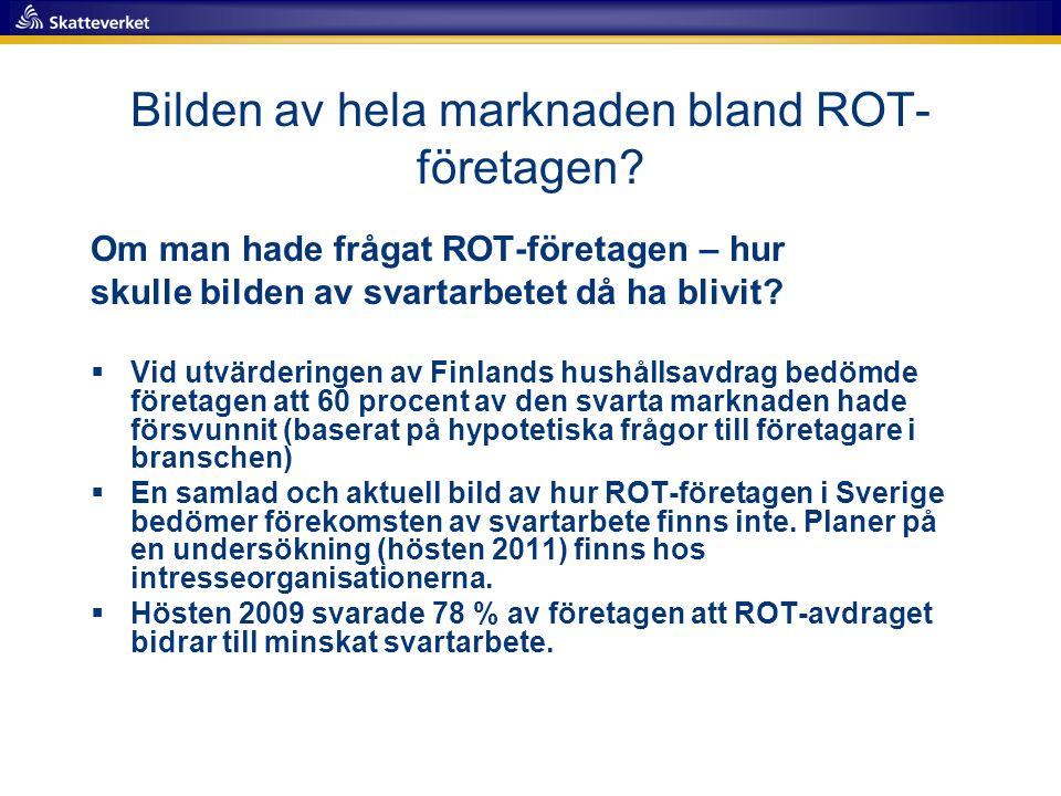 Bilden av hela marknaden bland ROT-företagen