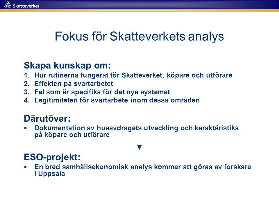 Fokus för Skatteverkets analys