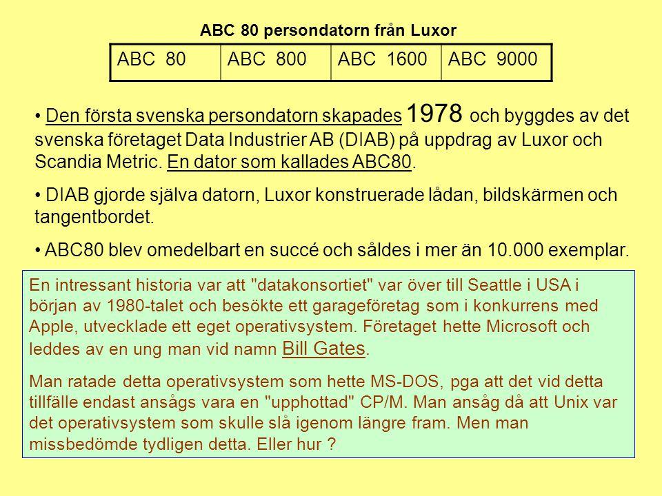 ABC 80 persondatorn från Luxor