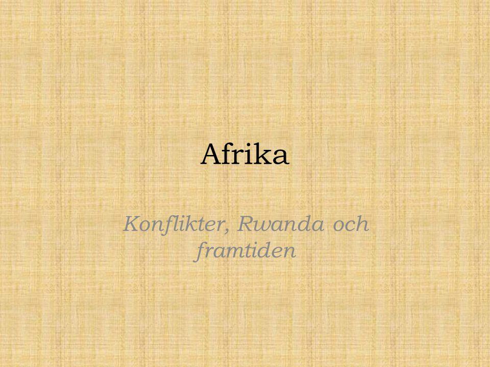 Konflikter, Rwanda och framtiden