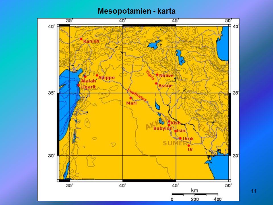 Mesopotamien - karta