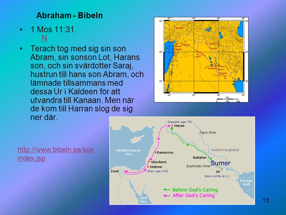 Abraham - Bibeln 1 Mos 11:31 N.