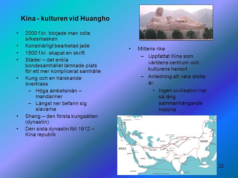 Kina - kulturen vid Huangho