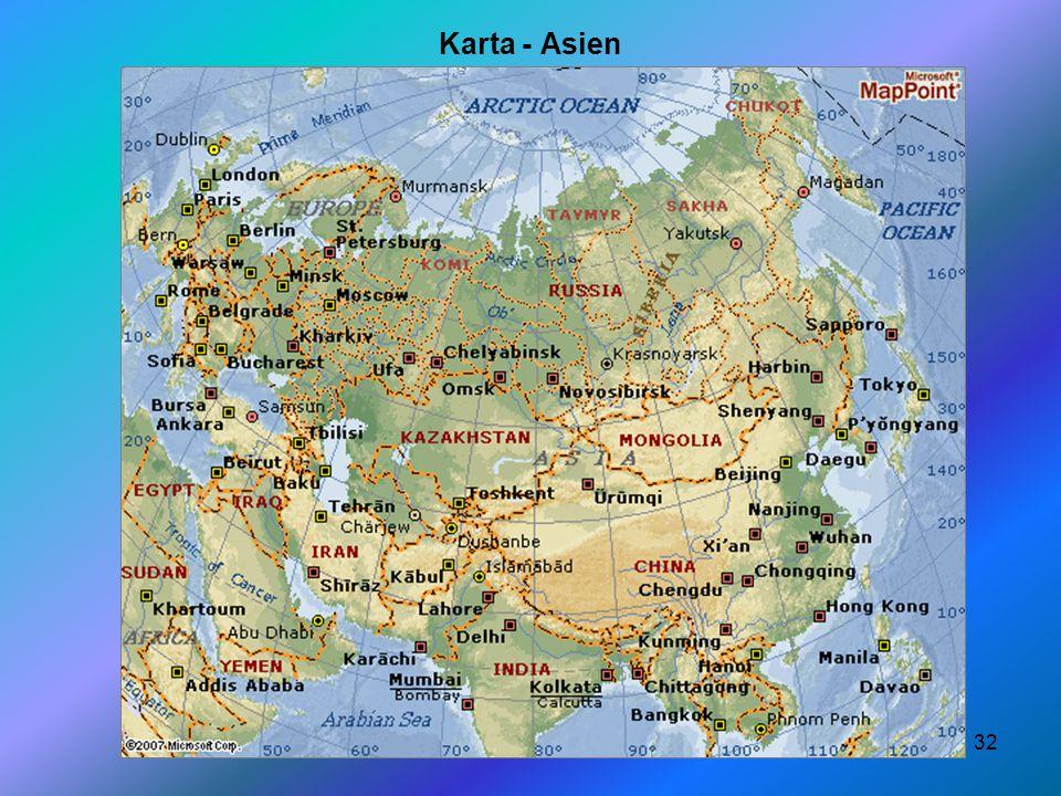 Karta - Asien