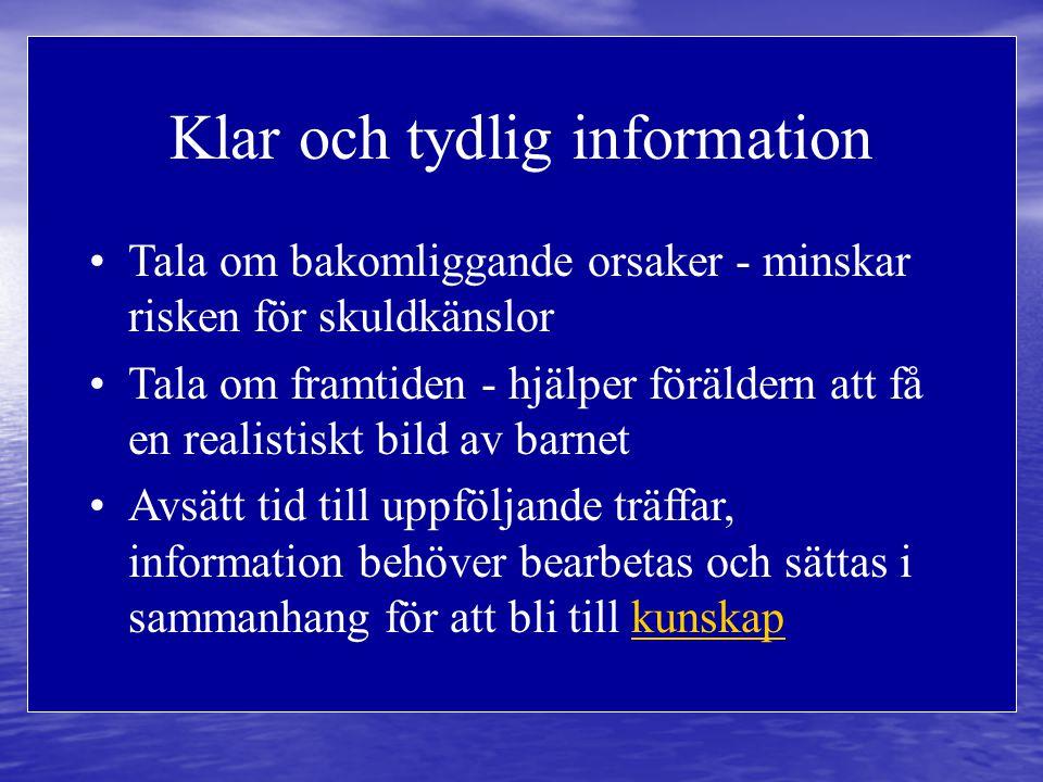 Klar och tydlig information