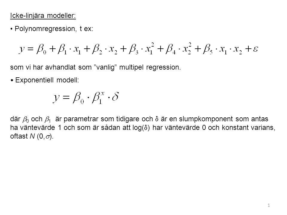 Icke-linjära modeller: