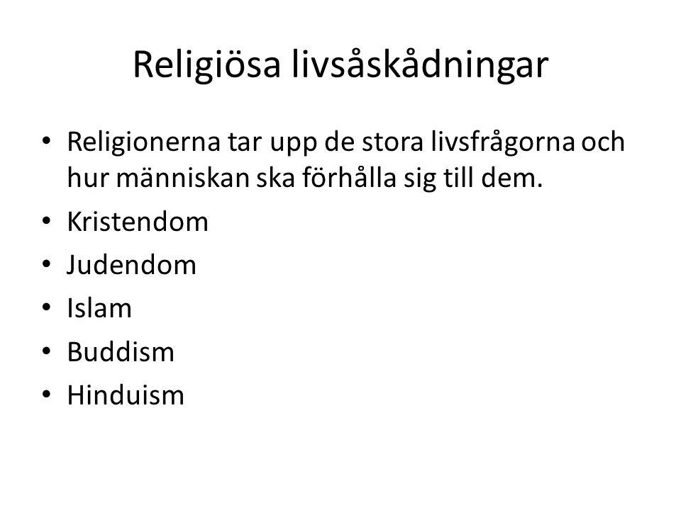 Religiösa livsåskådningar