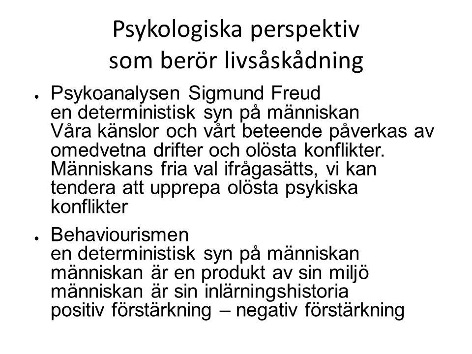 Psykologiska perspektiv som berör livsåskådning