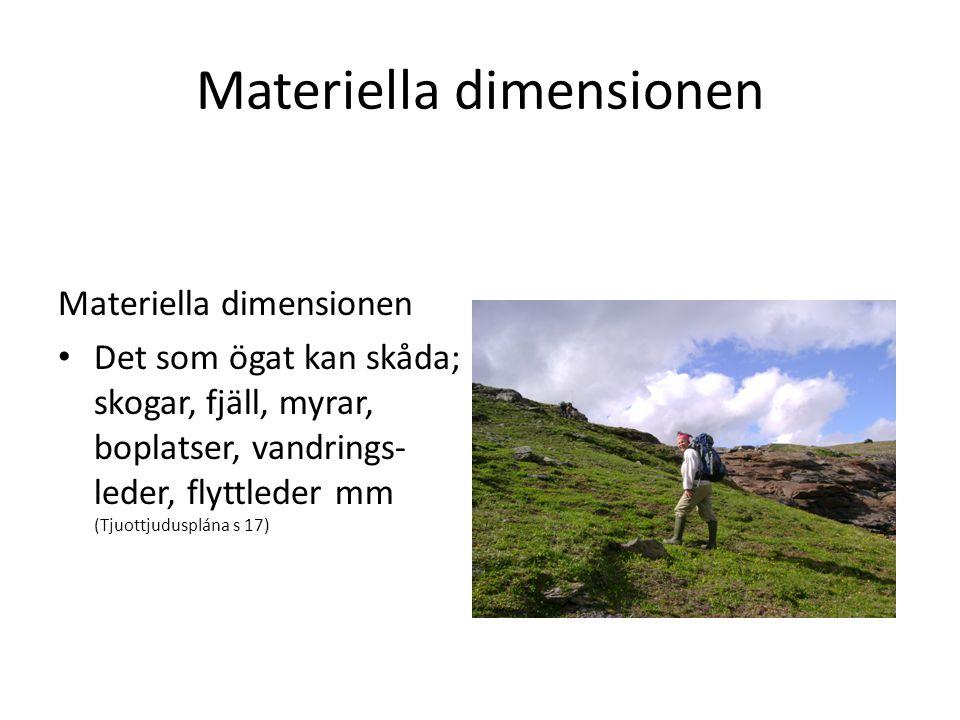 Materiella dimensionen
